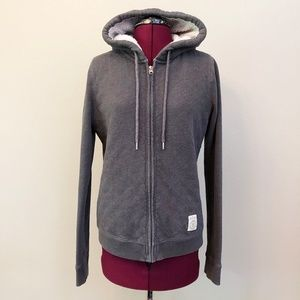 A&F   Quilted Fleece Lined Full Zip Hoodie